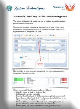 17. Drag n Drop av XML-filer.  Hjälpvideor.
