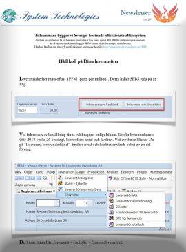 NL 25 - PPM klassificering av leverantörer