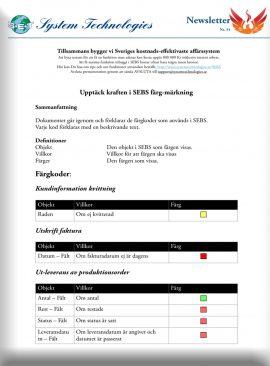 SEBS NL 34 - Färgkoder i Affärs - och MPS-Systemet