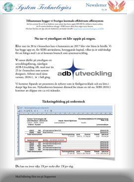 SEBS NL 28 - Täclnings-bidrag på orderstock
