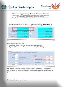 SEBS NL 31 - How Do You Do visar nu värdet på inköp
