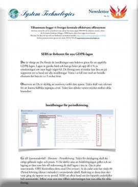 SEBS NL 35 - Inställningar för nyya GDPR-lagen