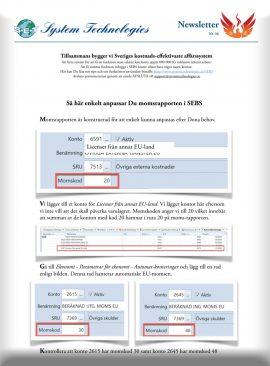 SEBS NL 36 - Anpassa företagets momsrapport