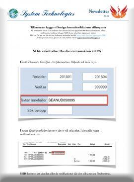 SEBS NL 38 - Söka efter text eller belopp i transaktioner