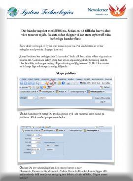SEBS NL 8 - Prislistor / Olika språk på artikelbeskrivning