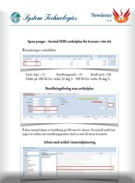 SEBS NL 40 - Artikelplanering