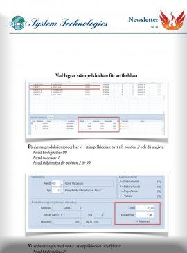 SEBS NL 41 - Artikeldata från Stämpelklockan