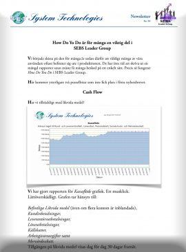 SEBS NL 59 - Cash Flow och orderstock per vecka