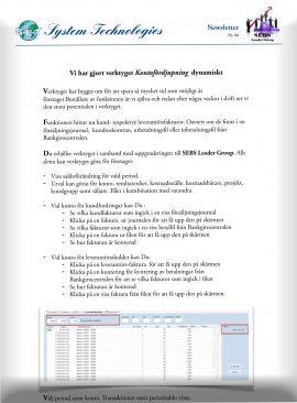 SEBS NL 60 - Kontofördjupning