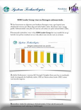 SEBS NL 61 - Företagets substansvärde