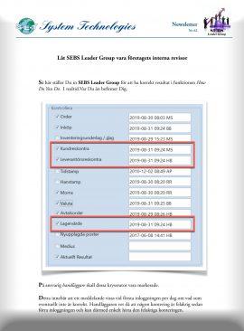 SEBS NL 62 - Inställningar för korrekt resultat