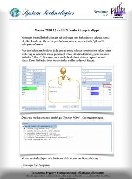 SEBS NL 67 - SEBS Leader Group 2020.13
