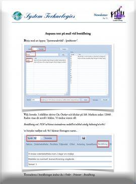 SEBS NL 71 - Anpassa text på inköpsmail