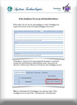 SEBS NL 74 - Visa handläggare på faktura och orderbekräftelse
