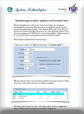 SEBS NL 78 - Valutahantering