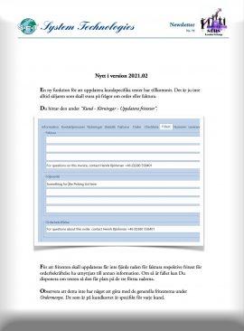 SEBS NL 79 - Uppdatera fritexter